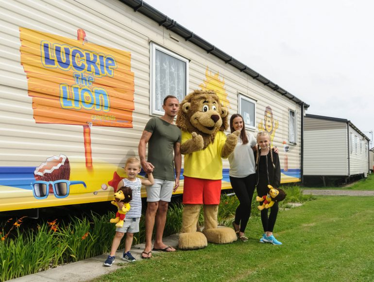 Visit from Luckie the Lion