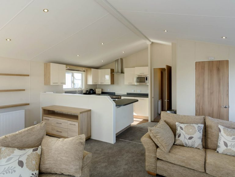 Luxury lodges at Grange Leisure