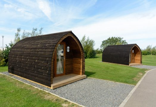 Glamping pods at Grange Leisure
