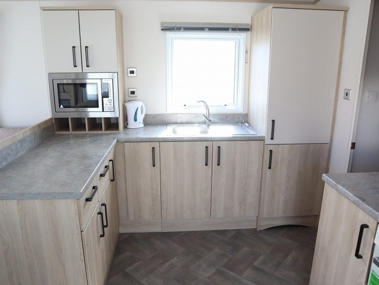 Platinum caravan kitchen