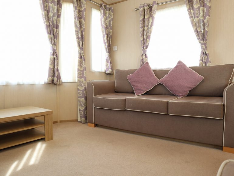 Luxury 6 Berth Caravan double twin lounge