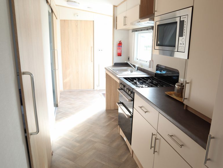 Luxury 6 Berth, Disabled Caravan kitchen