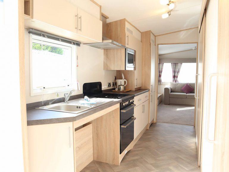 Luxury 6 Berth, Disabled Caravan kitchen
