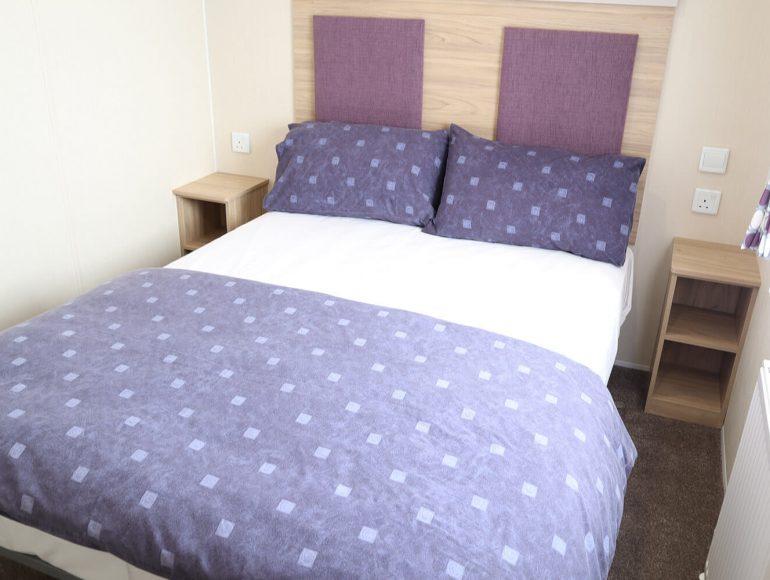 Luxury 8 Berth Caravan double bedroom