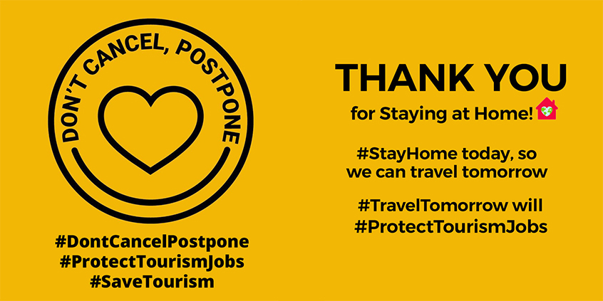 Don't Cancel, Postpone. Thank You For Staying at Home